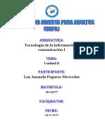 Unidad II Tecnologia de La Informacion y Comunicacion i