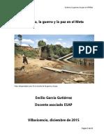 La Tierra La Guerra y La Paz en El Meta EGG