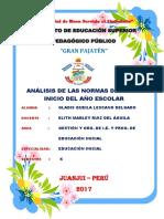 ANAILISIS DE LAS NORMAS DEL BUEN INICIO DEL AÑO ESCOLAR.docx