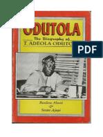 Biography of T. Adeola Odutola