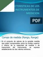 Caracteristicas de Los Instrumentos de Medicion