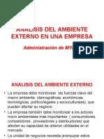 Analisis Externo en Una Empresa