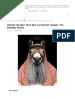 Wahabi Merubah Kitab Ihya' Karya Imam Ghazali - The Donkeys Tactics