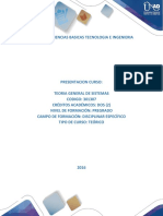 Presentacion Del Curso Teoría General de Sistemas