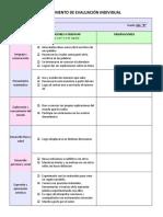 Instrumento de Evaluación Individual