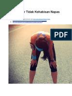 7 Cara Agar Tidak Kehabisan Napas Saat Lari