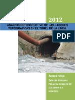 Analisis Retrospectivo de Las Labores Topograficas en El Tunel de La Linea Andres Felipe Salazar
