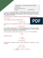 Lista de Exercícios Aula 1 - Física Termodinâmica e Ondas (1)