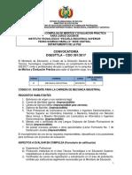 CDO 391 LA PAZ Inst Tecn Esc Ind Sup Pedro Domingo Murillo Central