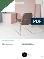 Taller Diseño de Mobiliario 2018 Marzo