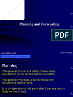 Planning Forecasting