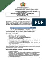CDO 409 LA PAZ Inst Sup Tecn Agroindustrial Santiago de LLallagua