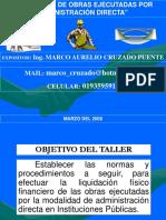 Liquidacon de Obras Por Administración Directa 15.01.2008