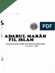 Adabul Marah Fil Islam