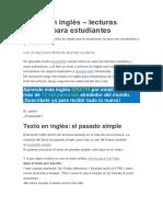 Textos en Inglés
