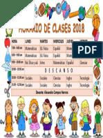 Horario de Clases 2018