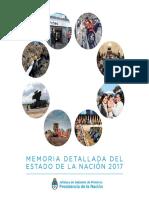 MEMORIA DEL ESTADO DE LA NACION
