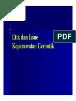 Pks 123 Slide Etik Dan Issue Keperawatan Gerontik