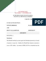 Case Law- Van Jaarsveld