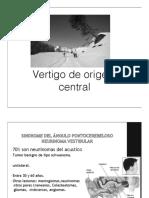4 Patologías Vestibulares Centrales