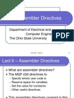 ECE 2560 - Lecture 07 Assembler Directives