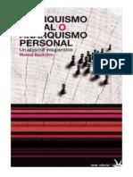 Bookchin, M. - Anarquismo social o anarquismo individual. Un abismo insuperable [1995] [ed. Virus, 2012].pdf