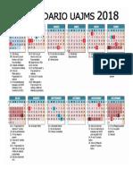 calendario académico UAJMS 2018