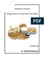 class 12 chemistry project curd from soy milk