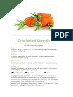 Carrots Crochet
