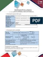 Guía de Actividades y Rúbrica. Task 3- Writing Production