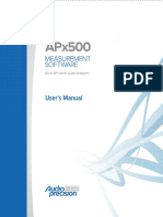 APx500 Users Manual