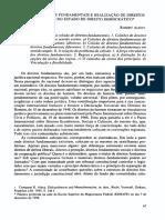 Colisão de Direito Fundamentais e Realização de Direitos Fundamentais No Estado de Direito Democrático. Robert Alexy