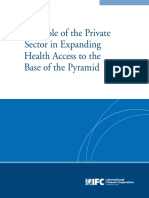 The Role of the Private Sector in Expanding Health Access to the Base of the Pyramid