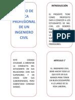 Código de Etica Del Ing Civil