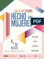 Programación I Festival de Cine Peruano Hecho por Mujeres