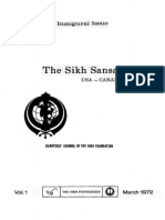 The Sikh Sansar USA-Canada Vol. 1 No. 1 March 1972 (Inaugural Issue)