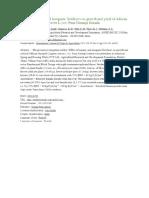 Effect of organic and inorganic fertilizers on growth and yield of African Marigold (Tagetes erecta L.) cv. Pusa Narangi Gainda.