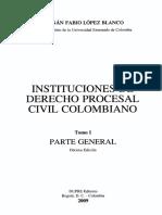 Instituciones de derecho procesal. (Contenido)