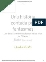 Una Historia Contada Por Fantasmas _ Claudia Morales