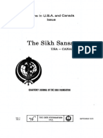 The Sikh Sansar USA-Canada Vol. 1 No. 3 September 1972 (Sikhs in USA and Canada Issue I)