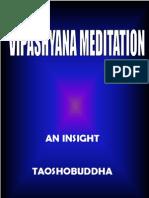 Vipashyana Meditation Buddhist Meditation