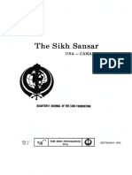 The Sikh Sansar USA-Canada Vol. 2 No. 3 September 1973