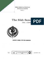 The Sikh Sansar USA-Canada Vol. 2 No. 4 December 1973 (Sikh Educational Institutions Part I)