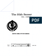 The Sikh Sansar USA-Canada Vol. 3 No. 2 June 1974