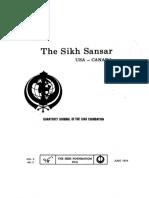The Sikh Sansar USA-Canada Vol. 3 No. 2 June 1974