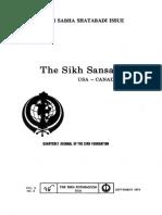 The Sikh Sansar USA-Canada Vol. 3 No. 3 September 1974 (Singh Sabha Shatabadi Issue)