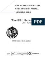 The Sikh Sansar USA-Canada Vol. 3 No. 4 December 1974 (Maharajadhiraj Sir Yadavindra Singh of Patiala Memorial Issue)