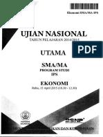 Soal UN SMA IPS Ekonomi 2015 - Mahiroffice.com