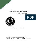 The Sikh Sansar USA-Canada Vol. 4 No. 1 March 1975