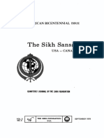 The Sikh Sansar USA-Canada Vol. 5 No. 3 September 1976 (American Bicentennial Issue)